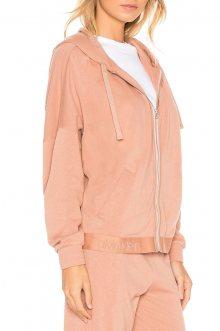 Calvin Klein pudrová dámská mikina Full Zip Hoodie - XS