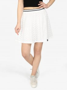 Krémová áčková sukně Superdry