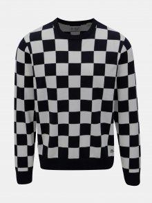 Bílo-modrý kostkovaný svetr Original Penguin Checkboard