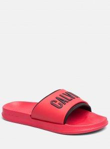 Calvin Klein červené unisex pantofle Slide Intense Power - 45/46