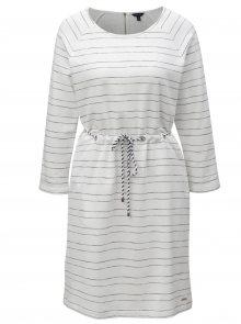 Bílé pruhované šaty Nautica Knee