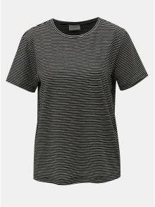 Bílo-černé pruhované basic tričko s krátkým rukávem VERO MODA AWARE Mava