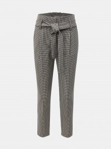 Šedé vzorované kalhoty Dorothy Perkins Petite