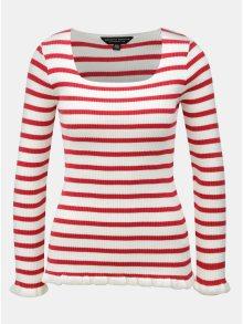 Krémovo-červený pruhovaný svetr Dorothy Perkins