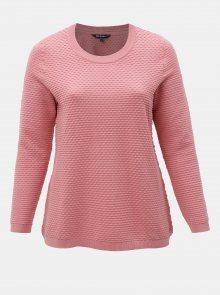 Růžový strukturovaný svetr Ulla Popken