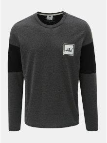 Tmavě šedé regular tričko se zipy na rukávech Jack & Jones Band