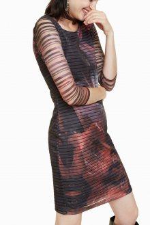 Desigual barevné šaty Rosa Glam - XS