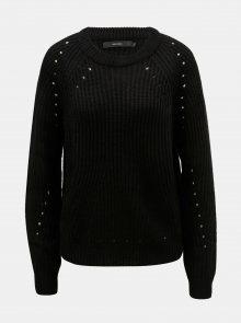 Černý svetr s děrovanými detaily VERO MODA Jay