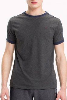 Tommy Hilfiger tmavě šedé tričko RN TEE SS s logem - S