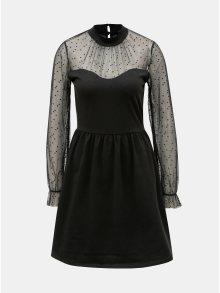 Černé šaty se síťovanými rukávy ONLY Lucca