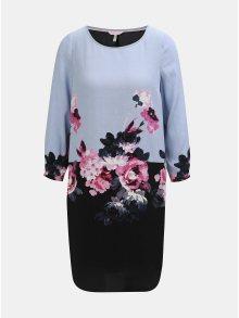 Černo-modré květované šaty s 3/4 rukávem Tom Joule