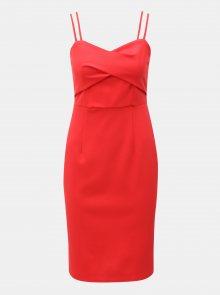 Červené šaty na ramínka Dorothy Perkins