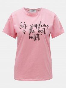 Růžové tričko s potiskem ELVI