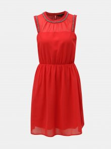 Červené šaty VERO MODA Kallie