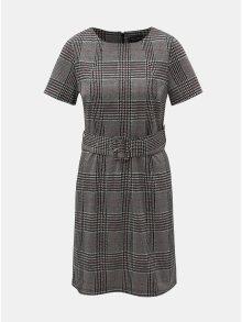Šedé vzorované šaty s páskem Dorothy Perkins Belted
