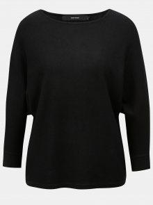 Černý lehký volný svetr s 3/4 rukávem VERO MODA