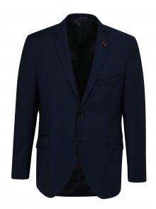Tmavě modré oblekové vlněné sako Good Son