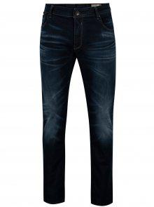 Tmavě modré pánské tapered fit džíny Garcia Jeans Russo