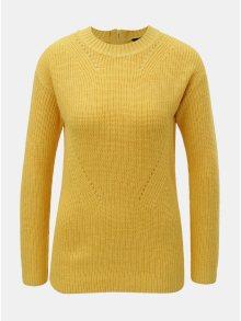 Žlutý svetr se zipem na zádech Dorothy Perkins