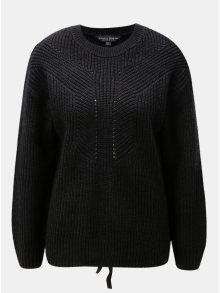 Černý svetr se šněrováním na zádech Dorothy Perkins