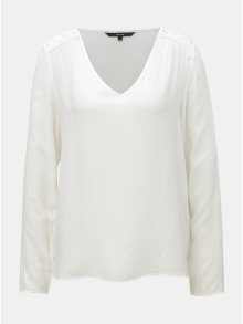 Bílá halenka s krajkovými detaily VERO MODA Susan