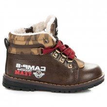 Chlapecké hnědé kotníkové boty s kožíškem