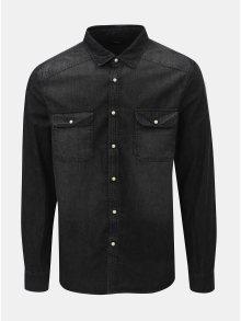 Černá džínová košile Burton Menswear London Western