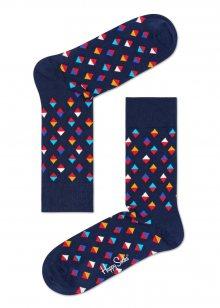 Happy Socks tmavě modré dámské ponožky Diamonds - 41-46