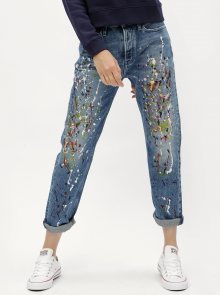 Modré dámské straight džíny s vysokým pasem Calvin Klein Jeans