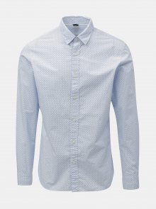 Světle modrá vzorovaná slim fit košile Selected Homme