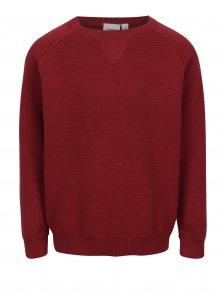 Červený klučičí žebrovaný lehký svetr Name it Iras
