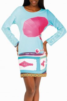 Culito from Spain barevné šaty Retro Fonografo - S