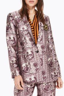 Scotch&Soda fialové sako s motivy slonů a palem - XS