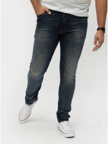 Modré slim džíny s vyšisovaným efektem Shine Original