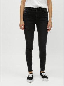 Černé skinny fit džíny s potrhaným efektem Jacqueline de Yong Jona