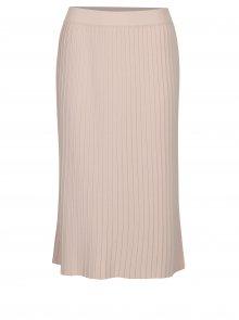 Starorůžová plisovaná midi sukně VILA Plissani