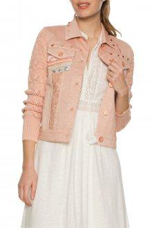 Desigual pudrově růžová jarní bunda Zaira  - 36