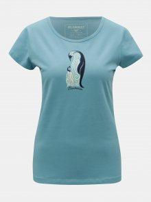 Modré dámské tričko s potiskem BUSHMAN Lodi