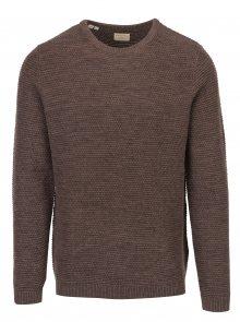 Hnědý žíhaný svetr Selected Homme New Vince