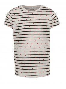 Béžové holčičí pruhované tričko  Name it Volta