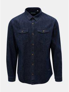 Tmavě modrá džínová košile s náprsními kapsami Shine Original