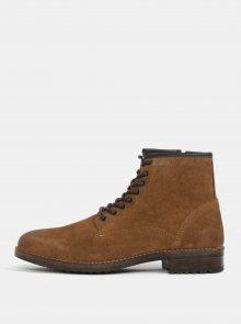 Hnědé pánské semišové kotníkové boty Burton Menswear London