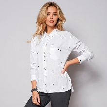 Venca Asymetrická košile s dlouhými rukávy bílá S