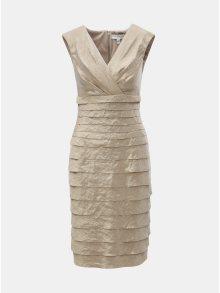 Pouzdrové šaty ve zlaté barvě s překládaným výstřihem Lily & Franc by Dorothy Perkins