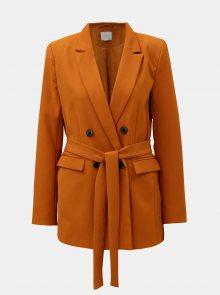 Oranžové sako s textilním páskem VILA Vitora