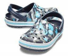 Crocs barevné maskáčové pantofle Crocband Camo Spec Clog Blue/Camo - 23/24