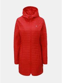 Červený dámský prošívaný voděodpudivý lehký kabát LOAP Japa