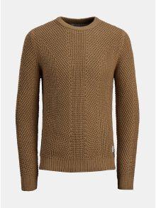 Hnědý pletený svetr Jack & Jones Stanford