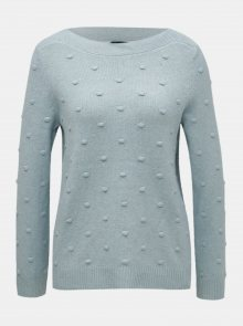 Modrý svetr s plastickým vzorem M&Co