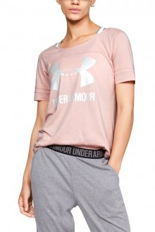 Under Armour růžové dámské tričko Sportstyle Baseball - XS